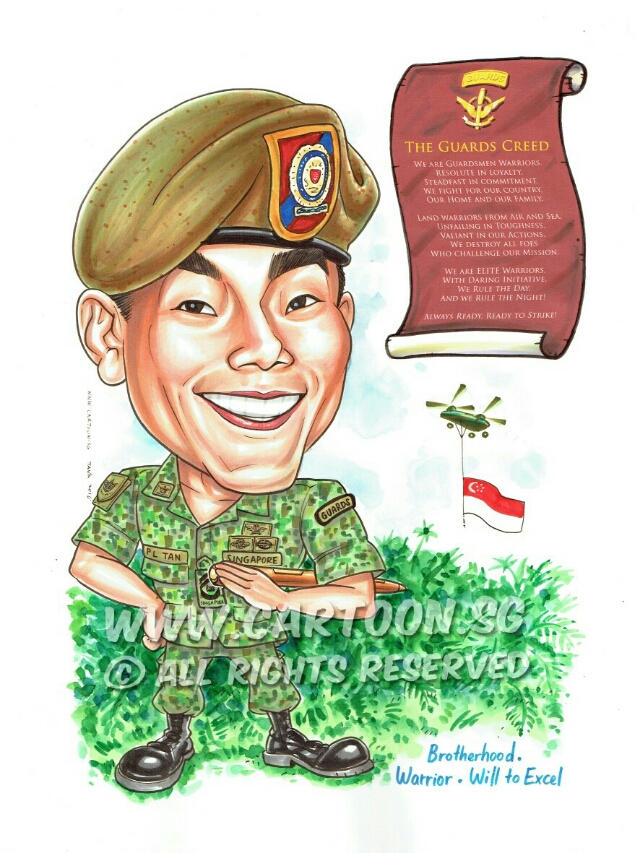 Army clipart army singapore. Cartoon sg caricature artists
