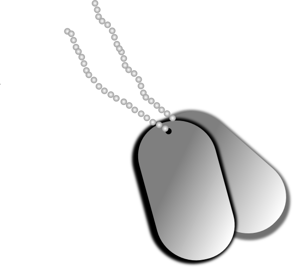 blank dog tags png