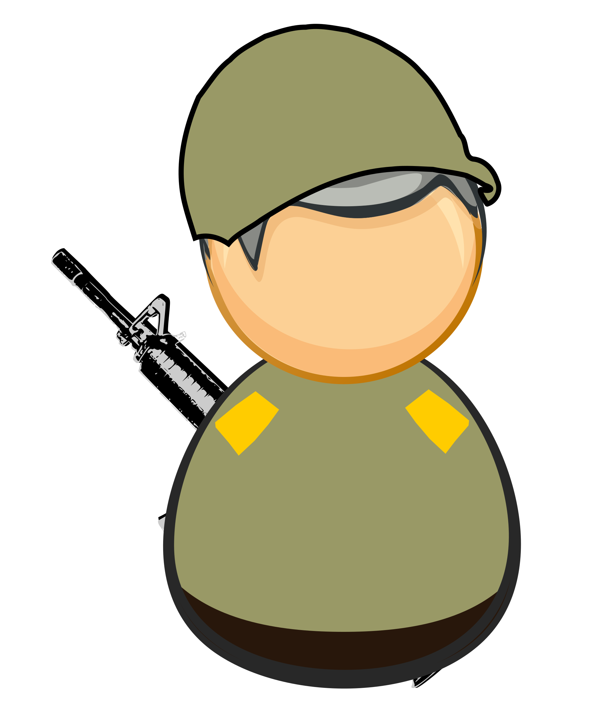 Soldier svg icon. Clipart first responder army