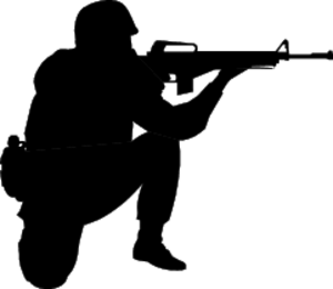 Army clipart soldier. A public domain images