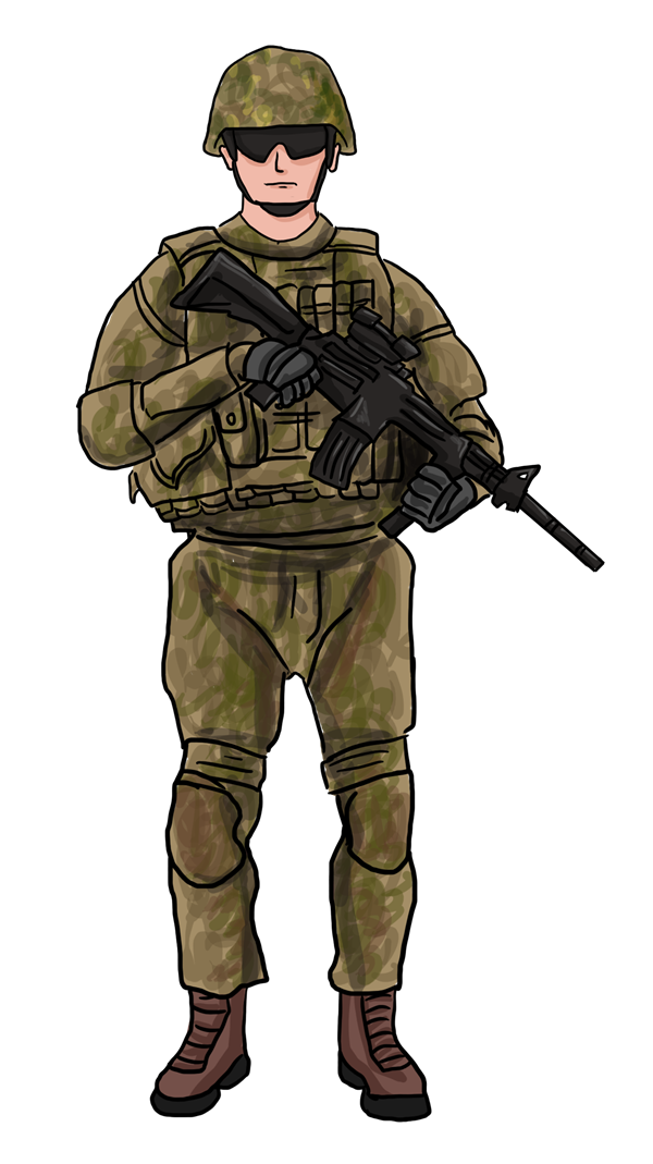 Army clipart soldier. Man at getdrawings com