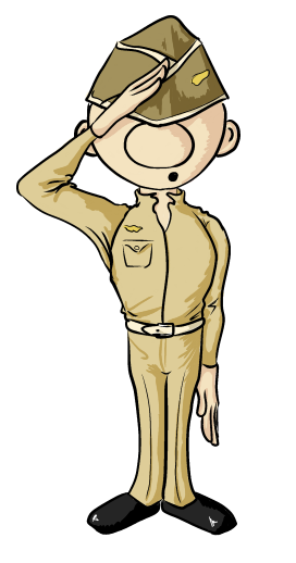 Soldier clipart. Free saluting cliparts download