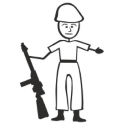 army clipart stick