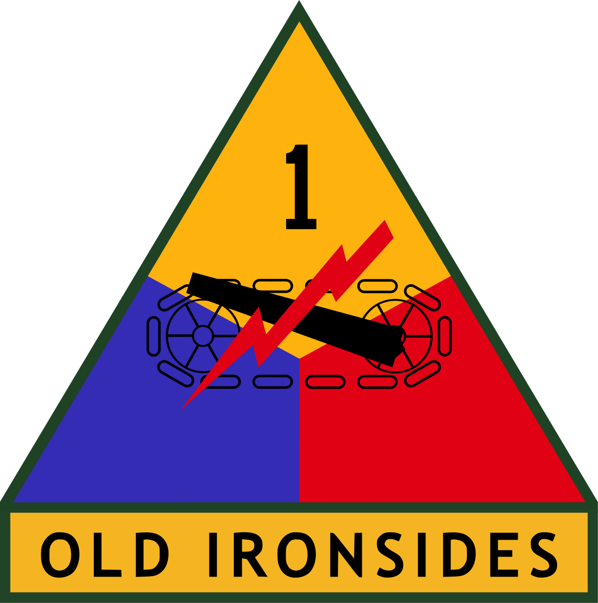 Military svg sign. St armored division