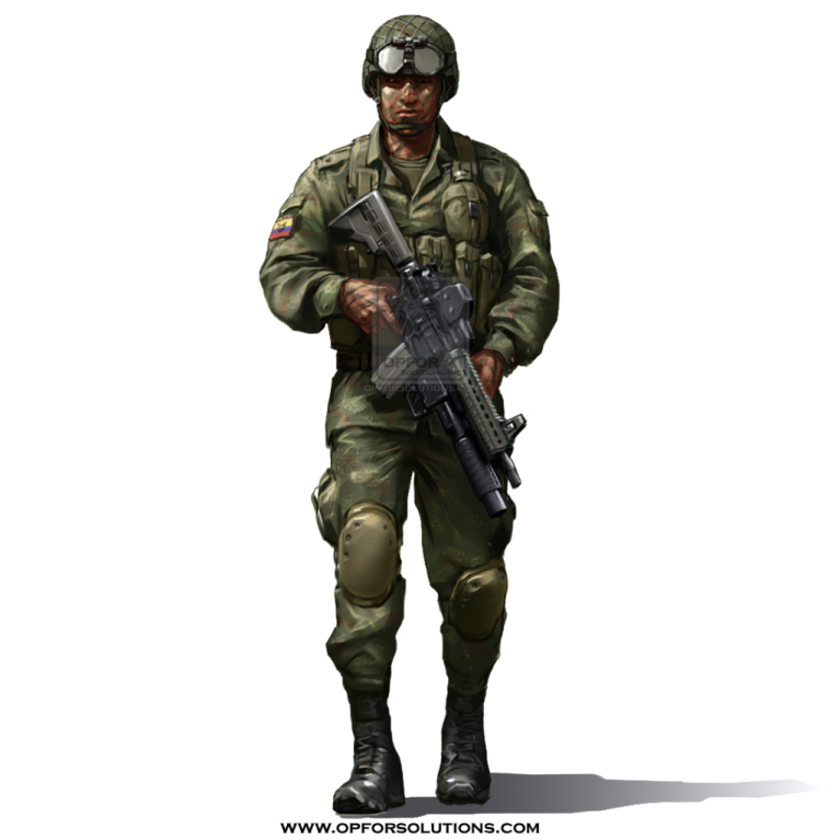 Army guy png. Colombia national uniform kit