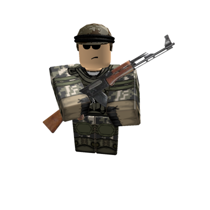 Army guy png. Roblox