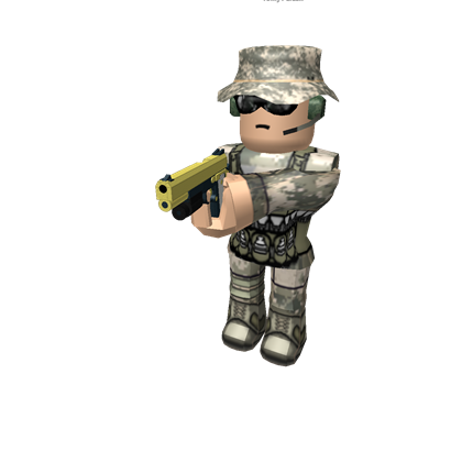 Army guy png. Holding a gun roblox