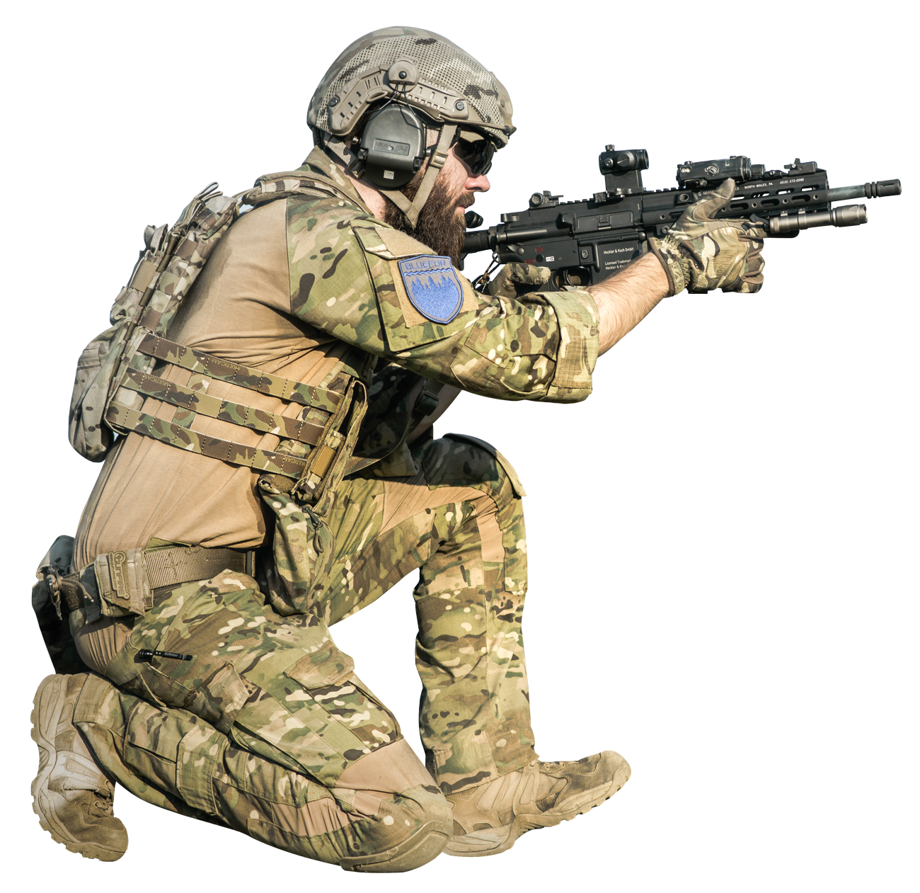 transparent soldier gun png