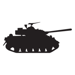Vector tank turret. Armoured vehicle silhouette transparent