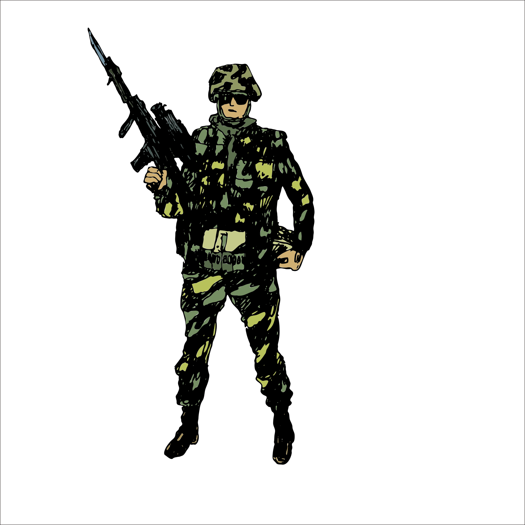 Army soldiers png. Military soldier drawing clip