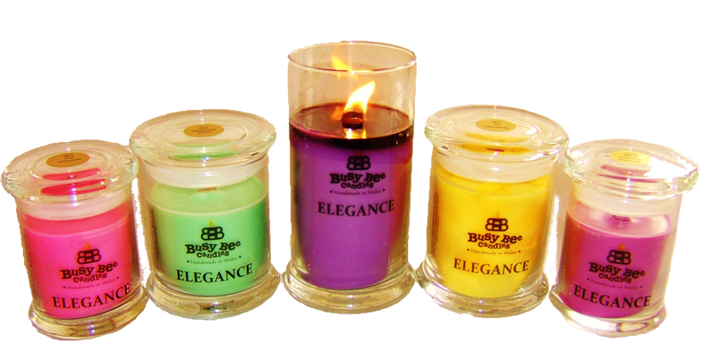 Transparent candles scented candle. Elegance