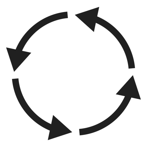 Arrow circle png. Four thin arrows element
