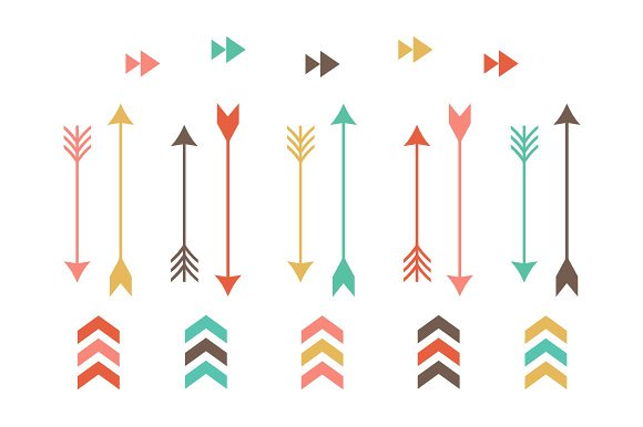 Arrow clip art illustrations. Tribal clipart graphic library download