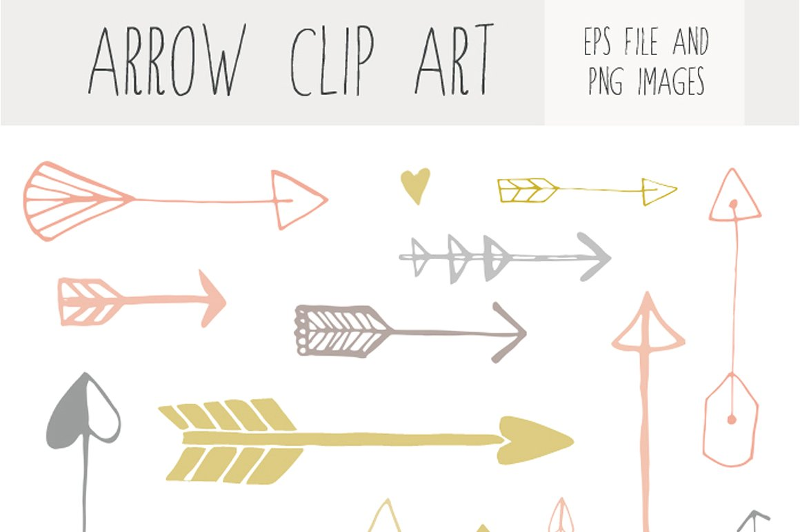 Arrows clipart cute. Handdrawn arrow clip art