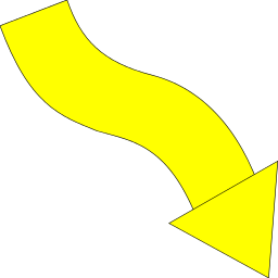 Arrow clipart yellow. Wavy down right signs
