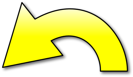 Arrow clipart yellow. Action left signs symbol
