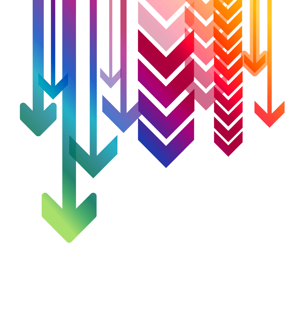 Arrow design png. Multiple arrows down transparent