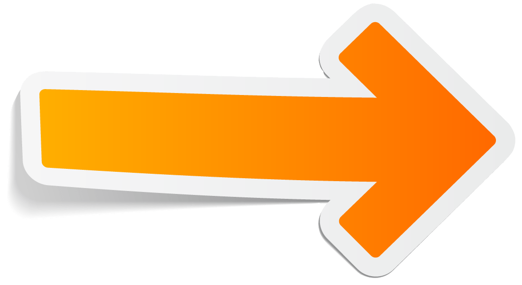 Arrow .png. Orange right transparent png