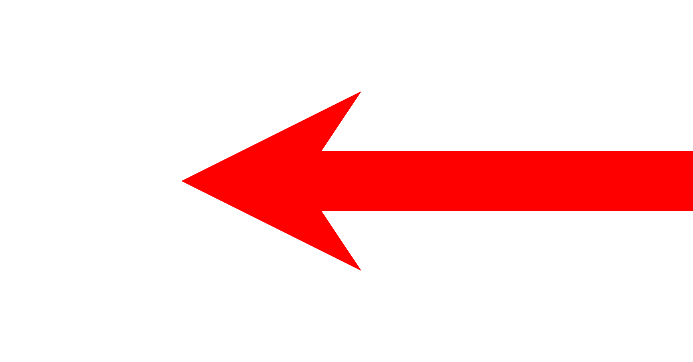 Arrow png files. File short left red