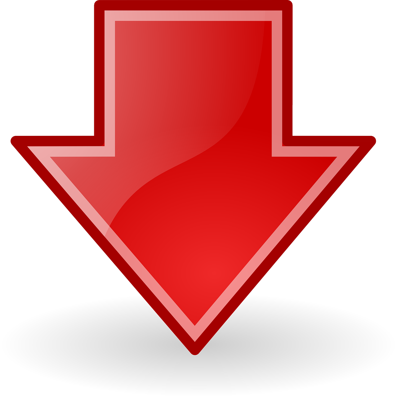 Arrow png red. Arrows down download glossy
