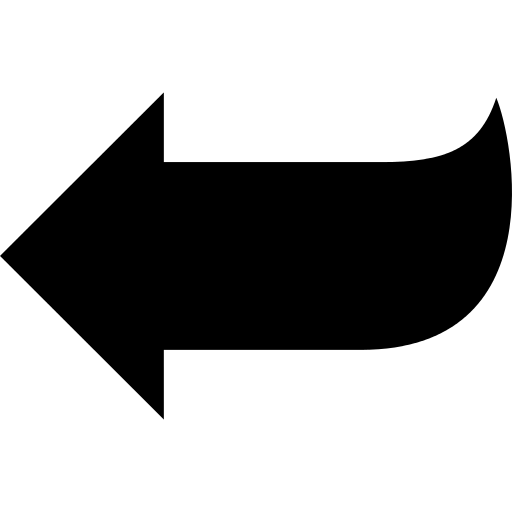 Arrow shape png. Pointing to left icon