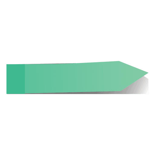 Green post it arrow sticker