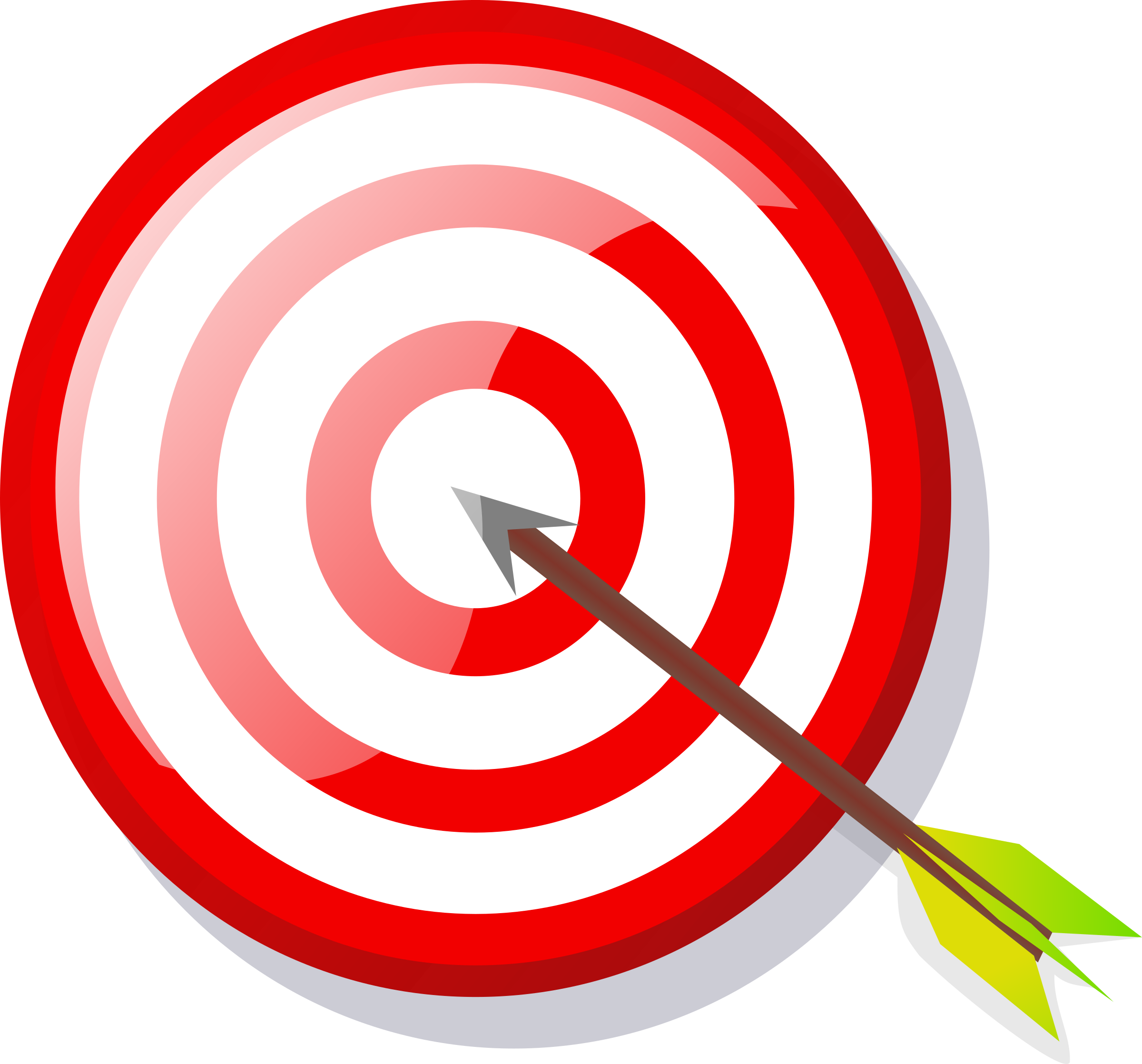 Targeting vector aim. Target with arrow icons