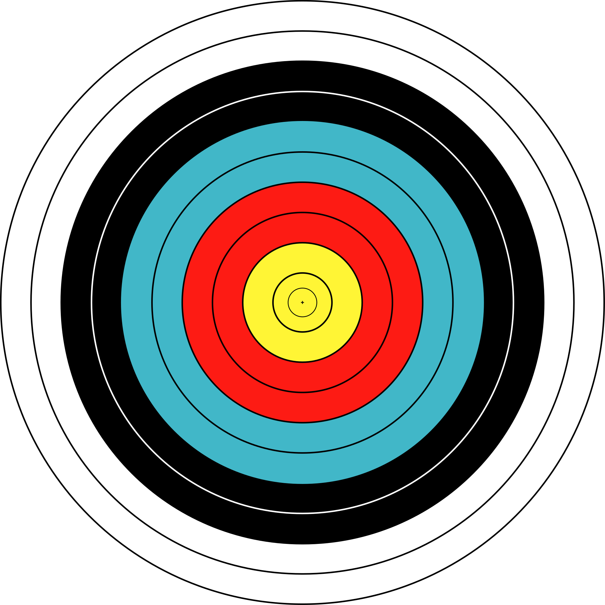 Bullseye svg printable. File wa cm archery