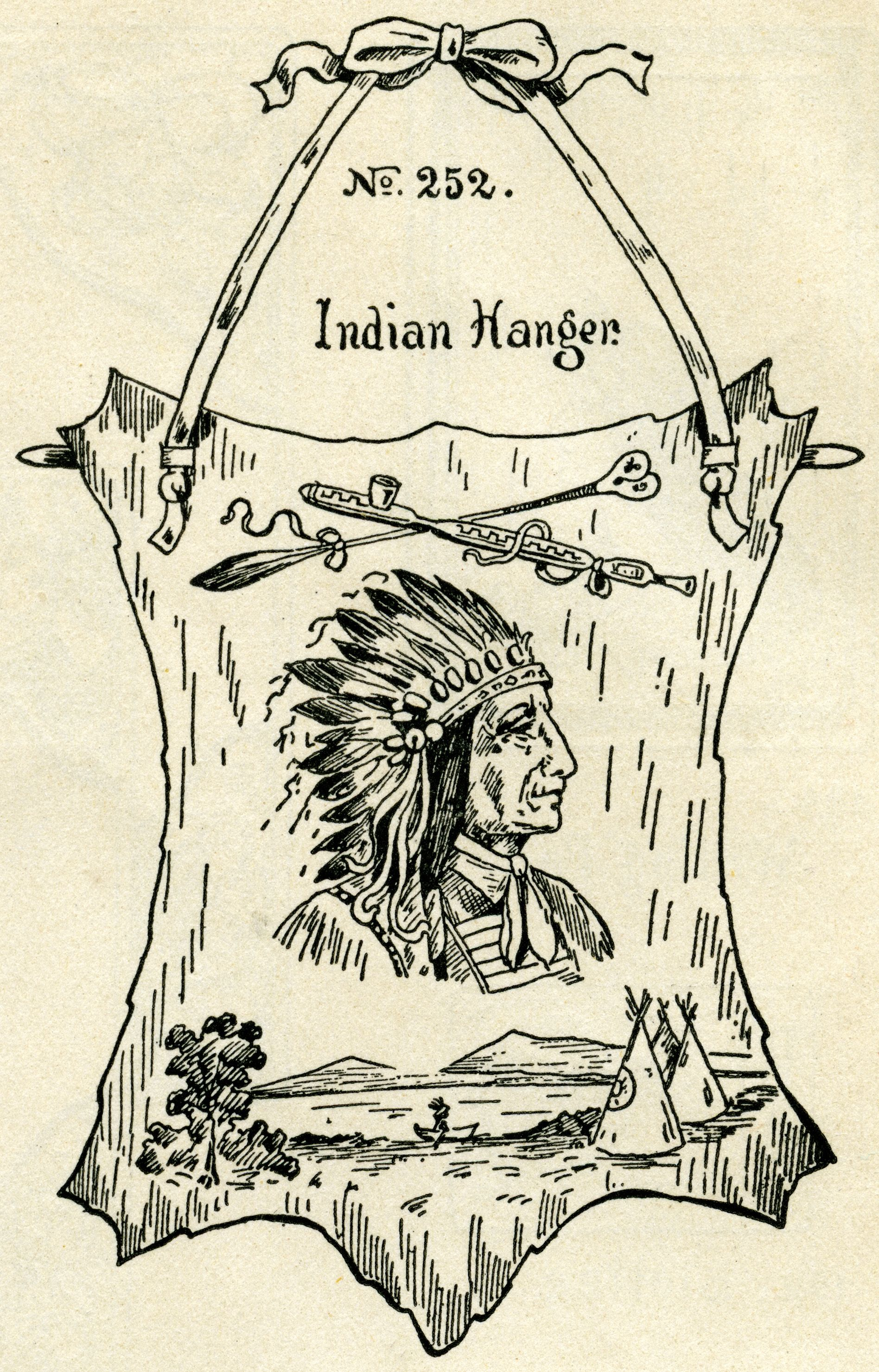 Hanger clipart vintage. Indian chief clip art