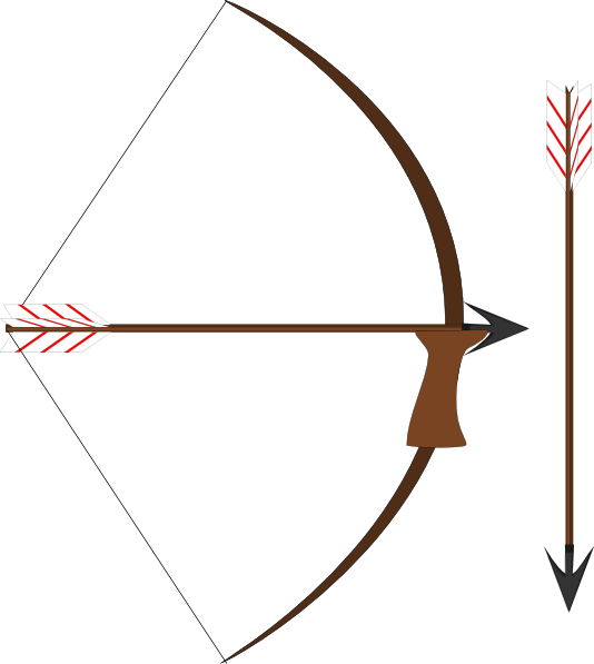 Vector bows native american. Bow and arrow hunger