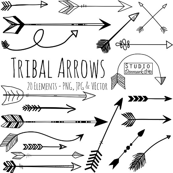 Arrows clipart beautiful. Tribal arrow and vectors