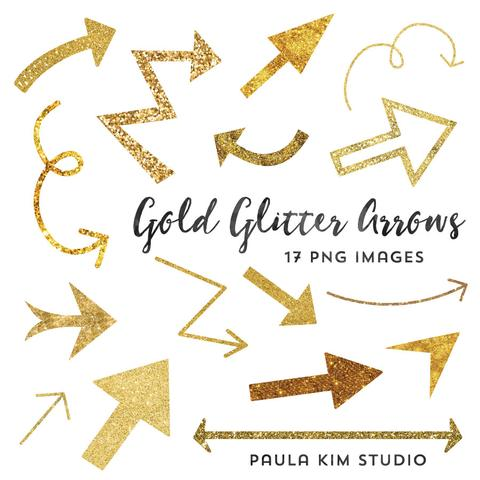Arrows clipart beautiful. Gold glitter paula kim