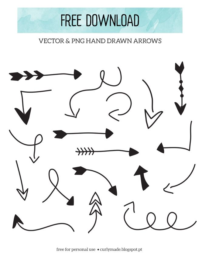 Arrows clipart cute. Free download hand drawn