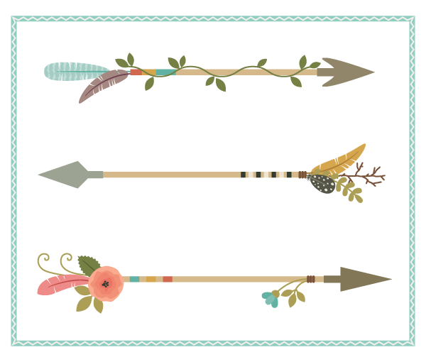 Arrows clipart decorative. How to create nature