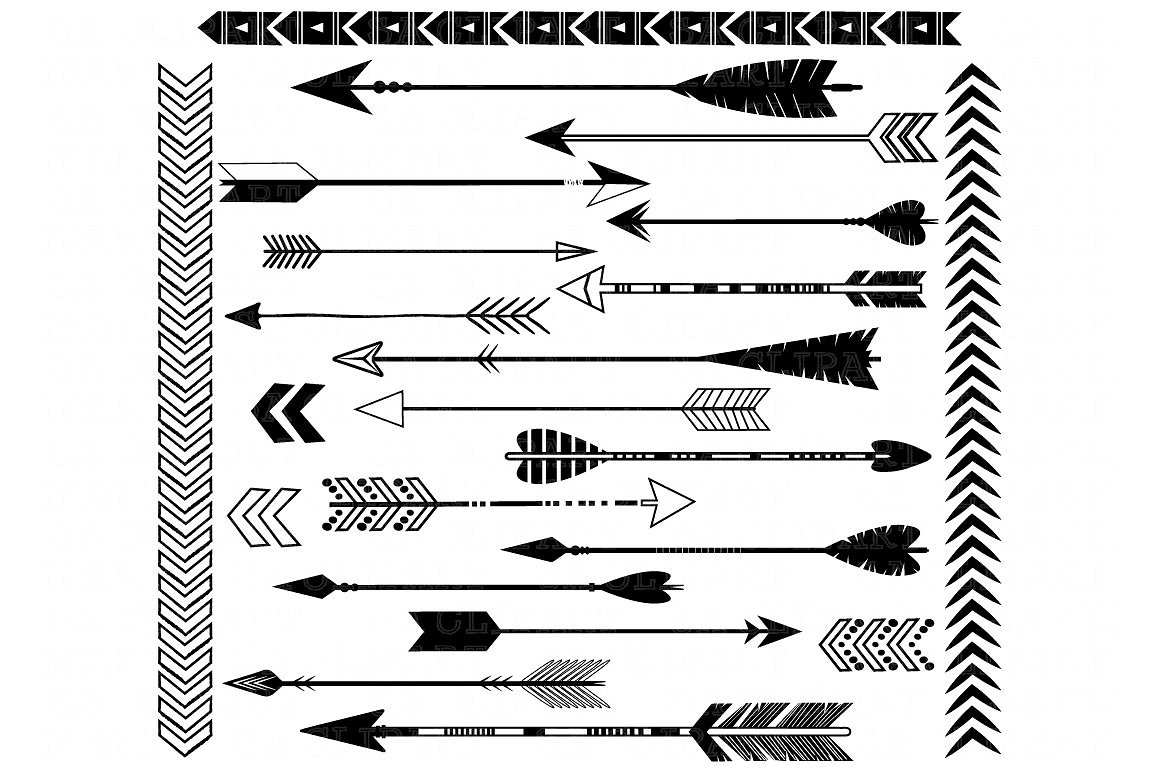 Western clipart arrow. Black arrows illustrations creative