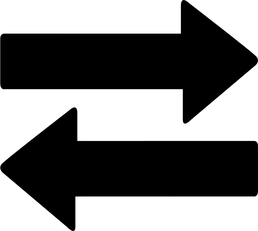 Arrows icon png. Two way svg free
