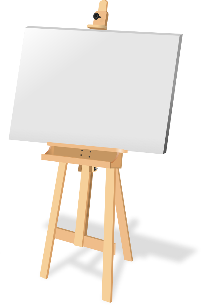Art canvas png. Painting easel clipart free