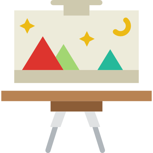 Art canvas png. Icon svg