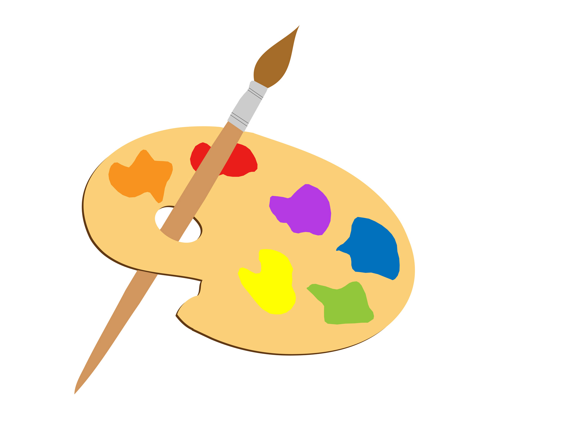 Artist clipart art contest. Artists palette free stock