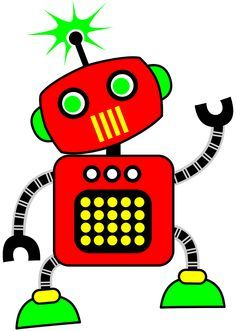 Art clipart art project. Robot for your or