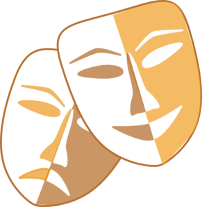Theatre clipart theatre logo. Masks clip art at