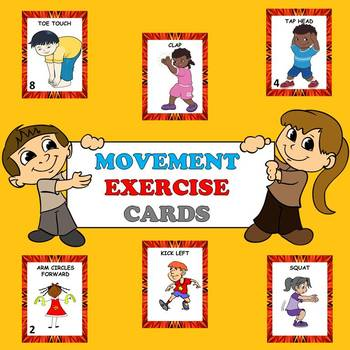 Art clipart non locomotor. Movement exercise cards and