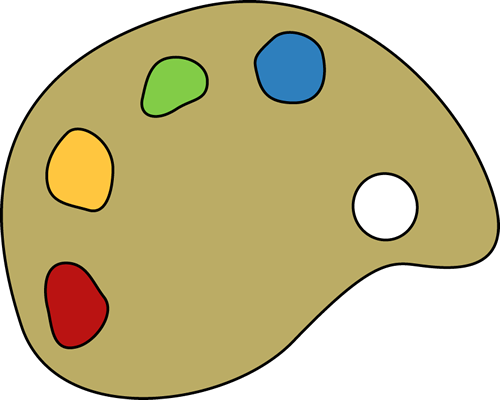 Art clipart paint plate. Free palette cliparts download