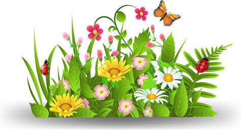 Art clipart spring. Flowers border clip free