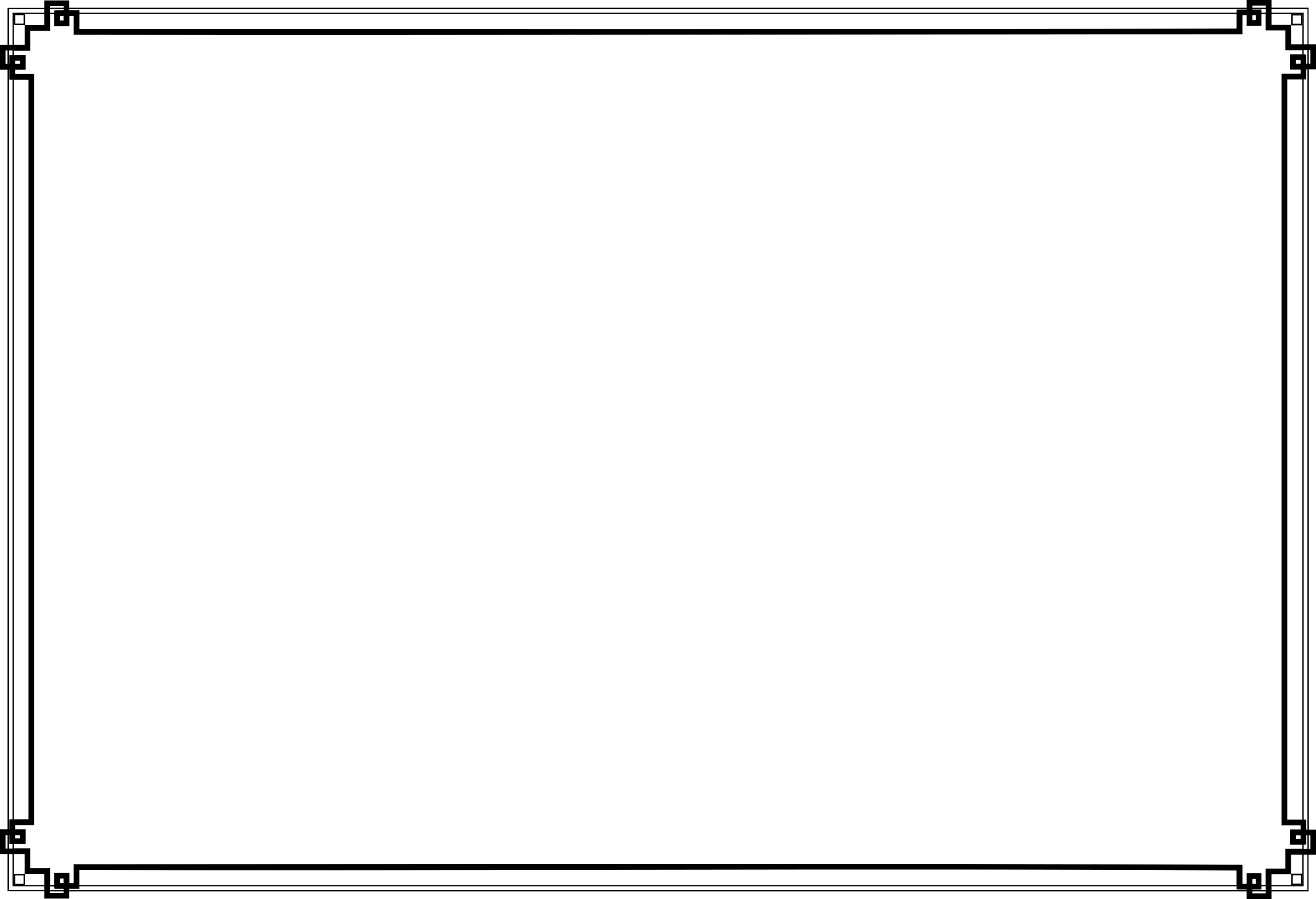 Art deco border png. Transparent stickpng