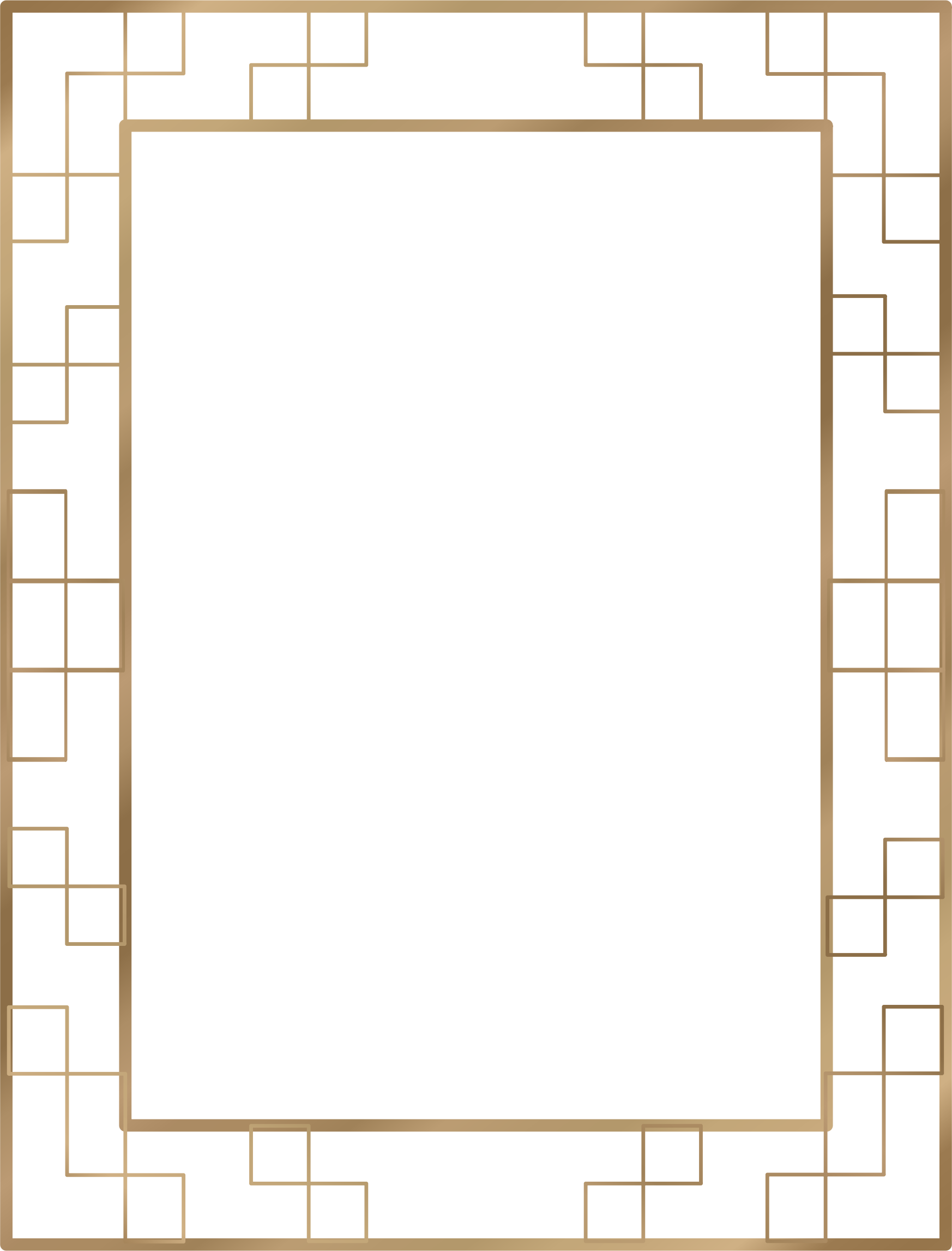 Art deco borders png. Border us size icons