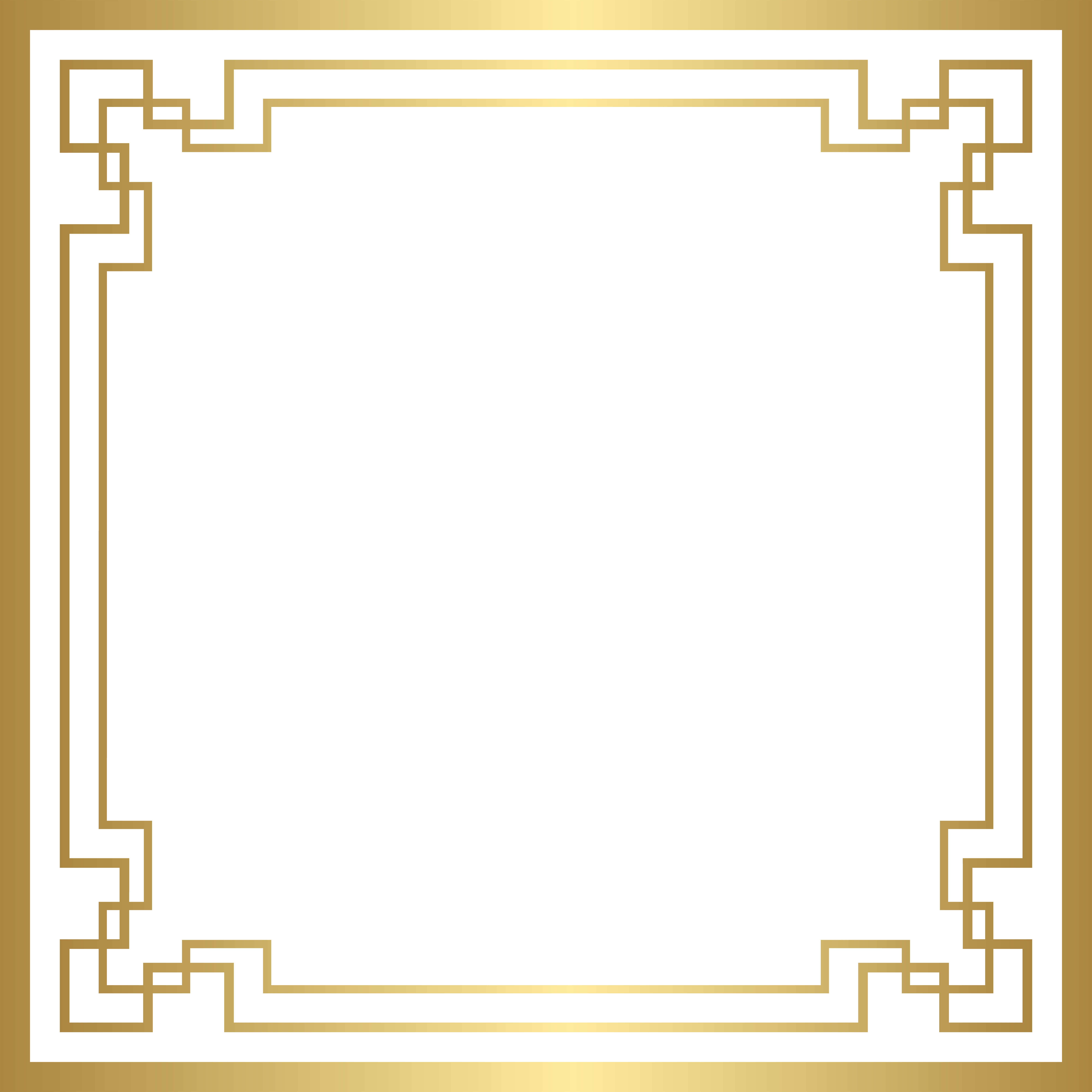 Png interlaced photoshop. Border deco frame gold