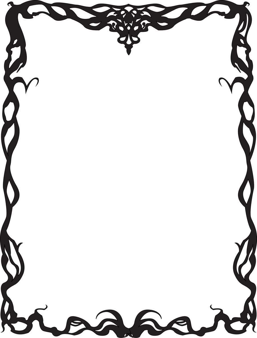 Art deco borders png. Nouveau border by justencase
