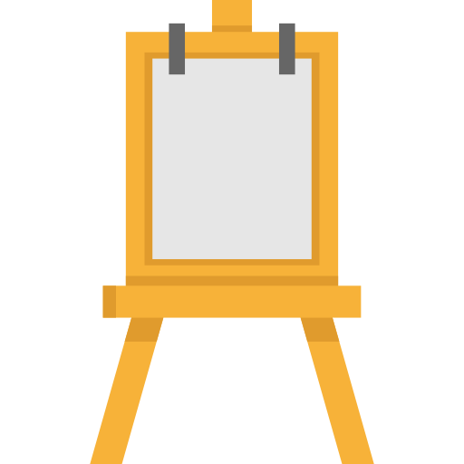 Art easel png. Tools tool paint painting
