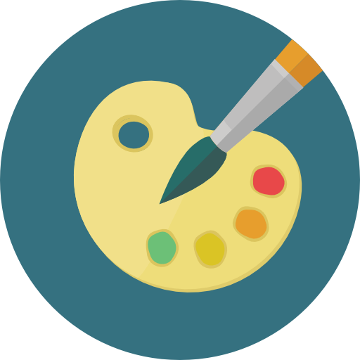 Art icon png. Paint palette free interface